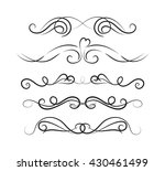 set of page decoration line... | Shutterstock .eps vector #430461499