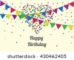anniversary banner sets. party... | Shutterstock .eps vector #430462405