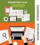 flat design modern vector... | Shutterstock .eps vector #430466041