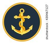 gold anchor label vector... | Shutterstock .eps vector #430467127