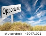 opportunity chance to follow... | Shutterstock . vector #430471021