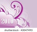 beautiful floral pattern 2010... | Shutterstock .eps vector #43047493