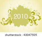 grungy floral pattern 2010... | Shutterstock .eps vector #43047505