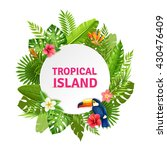 tropical island decorative... | Shutterstock .eps vector #430476409