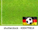 soccer field with german flag... | Shutterstock . vector #430479814