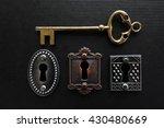 Three Vintage Locks With Gold...