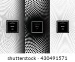 set of optical art patterns for ... | Shutterstock .eps vector #430491571