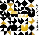geometric pattern black  white... | Shutterstock .eps vector #430493695