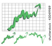 stocks index upward arrow...   Shutterstock .eps vector #43049989