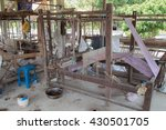 weaving loom and shuttle on the ... | Shutterstock . vector #430501705