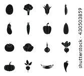 vegetables icons set | Shutterstock .eps vector #430503859