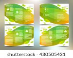 business brochure set design... | Shutterstock .eps vector #430505431