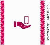 smartphone icon flat design.... | Shutterstock .eps vector #430510714