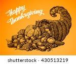 Thanksgiving Day. Hand Drawn...