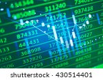data analyzing in trading... | Shutterstock . vector #430514401