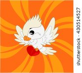 cartoon cockatoo with orange... | Shutterstock .eps vector #430514527