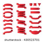 modern high quality ribbons on... | Shutterstock .eps vector #430523701