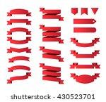 modern high quality ribbons on... | Shutterstock .eps vector #430523701