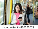 woman use of mobile phone in... | Shutterstock . vector #430525399