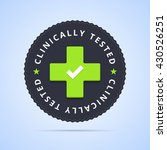 clinically tested stamp. vector ... | Shutterstock .eps vector #430526251