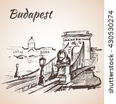 chain bridge   budapest ... | Shutterstock .eps vector #430530274