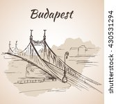 liberty bridge in budapest ... | Shutterstock .eps vector #430531294