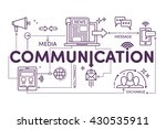 communication concept for web... | Shutterstock .eps vector #430535911
