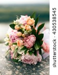 Wedding Bouquet From Pink Peon...
