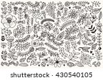 floral elements collection.... | Shutterstock .eps vector #430540105