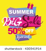 summer sale vector banner. ...   Shutterstock .eps vector #430541914