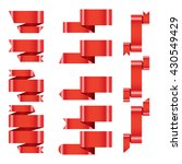 banner ribbon vector set on...   Shutterstock .eps vector #430549429