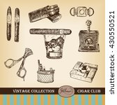 cigar  lighter  ashtray ... | Shutterstock .eps vector #430550521