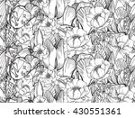 seamless pattern with graphic... | Shutterstock . vector #430551361