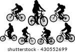 Set Of 7 Silhouettes Of The...