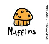 biscuit muffin vector... | Shutterstock .eps vector #430554307