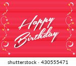creative vector happy birthday... | Shutterstock .eps vector #430555471