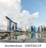view of central singapore.... | Shutterstock . vector #430556119