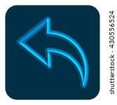 3d line neon web icon arrow ...