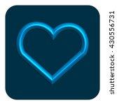 3d line neon heart web icon...
