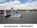 inox chimney on the flat roof... | Shutterstock . vector #430561897
