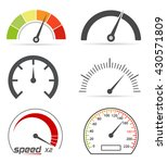speedometer icons | Shutterstock .eps vector #430571809