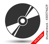 disk icon. flat logo of disk... | Shutterstock .eps vector #430574629