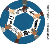 sharing economy  conceptual... | Shutterstock .eps vector #430576381