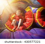 a happy little child is playing ... | Shutterstock . vector #430577221