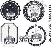 sydney city. set of stamps.... | Shutterstock .eps vector #430579981