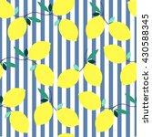 summer seamless lemon pattern...   Shutterstock .eps vector #430588345