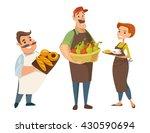 three different vector... | Shutterstock .eps vector #430590694