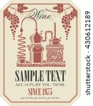 label for wine with wine... | Shutterstock .eps vector #430612189