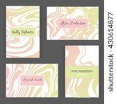 creative modern business cards  ... | Shutterstock .eps vector #430614877