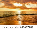 sunset in tropical island of... | Shutterstock . vector #430617709